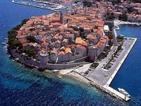 Pohled na město Korčula