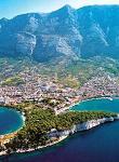 Makarska - letecký pohled